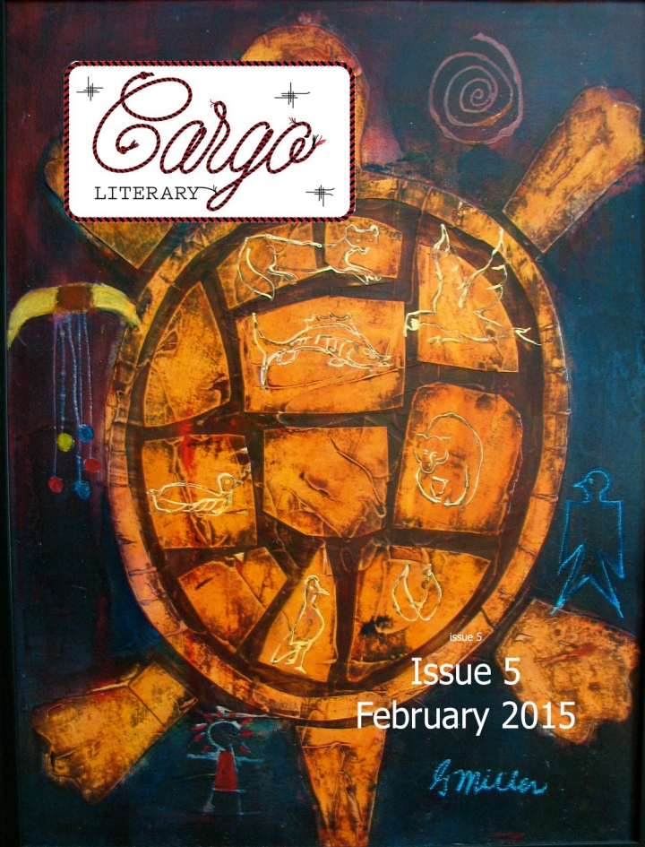 cover of Cargo Literary Issue 5 February 2016 painting of turtle