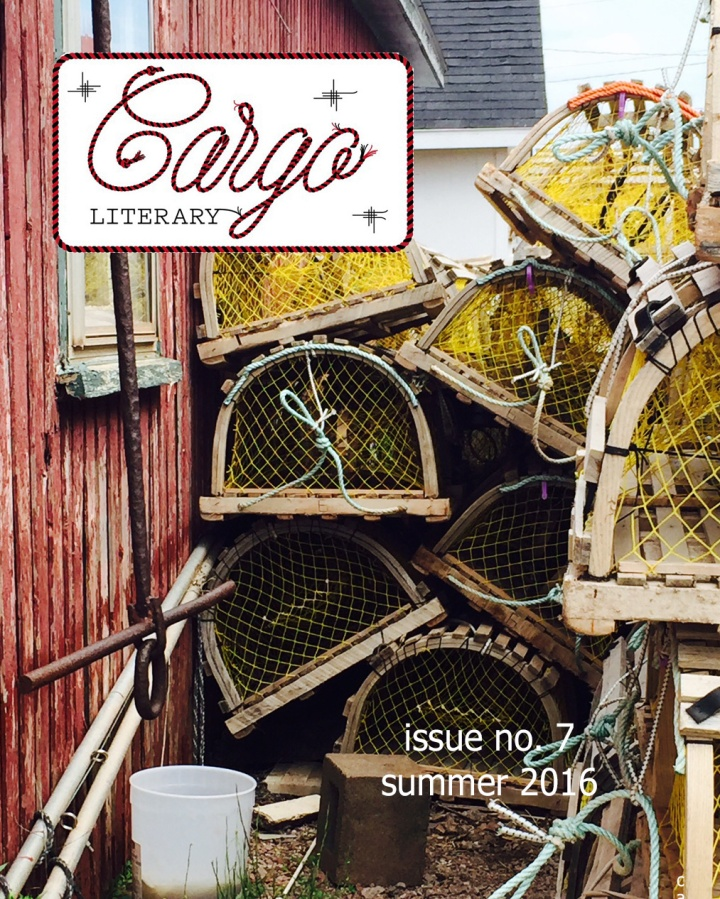 cover of Cargo Literary Issue 7 summer 2016 lobster traps stacked next to shanty